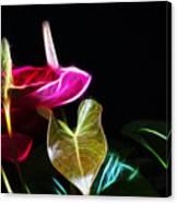 The Neon Garden Canvas Print