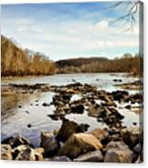 The New River At Whitt Riverbend Park - Giles County Virginia Canvas Print