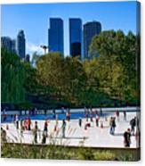 The New York Central Park Ice Rink  Canvas Print