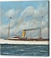 The New York Yacht Club Steam Yacht Vanadis At Sea Canvas Print