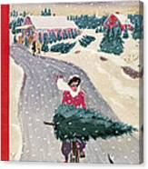 The New Yorker Cover - December 19th, 1942 Canvas Print