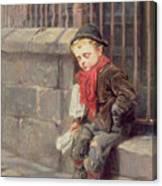 The News Boy Canvas Print