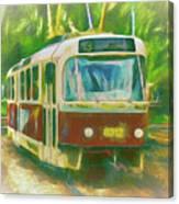 The No. 13 To Cernokostelecka Canvas Print