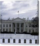 The North View Of The White House Canvas Print