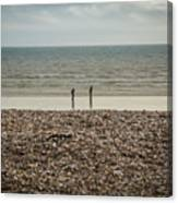 The Ocean Can Make You Feel Small, Bognor Regis, Uk. Canvas Print