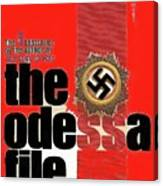 The Odessa File Frederick Forsyth Book Cover 1972 Color Added 2016 Canvas Print
