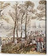 The Officers And Seaman Of The Fleet On Shore At Nargen Canvas Print