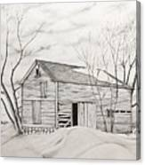 The Old Barn Inwinter Canvas Print
