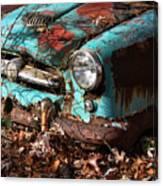 The Old Blue Car Canvas Print