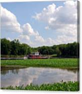 The Old Boat On The Mississippi River Canvas Print