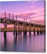 The Old Bridge at Sunset Canvas Print