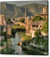 The Old Bridge Of Mostar  Canvas Print