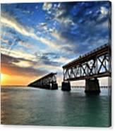 The Old Bridge Sunset - V2 Canvas Print