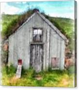 The Old Chicken Coop Iceland Turf Barn Canvas Print