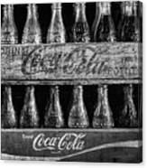 The Old Coke Stack In Black And White Canvas Print