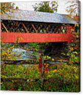 The Old Creamery Covered Bridge Canvas Print