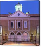 The Old Exchange And Provost Dungeon At Twilight Charleston South Carolina Canvas Print
