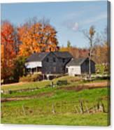The Old Farm In Autumn Canvas Print