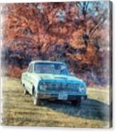 The Old Ford On The Side Of The Road Canvas Print
