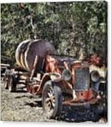 The Old Jalopy In Wine Country, California  Canvas Print