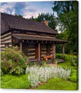 The Old Log Home  Canvas Print