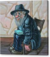 The Old Man Near The Western Wall Canvas Print
