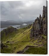 The Old Man Of Storr, Isle Of Skye, Uk Canvas Print