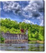 The Old Mckeever Pulp Mill Canvas Print