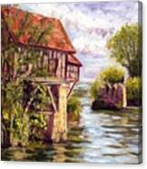 The Old Mill Of Vernon Canvas Print