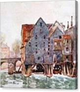The Old Mills At Meaux Canvas Print