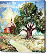The Old Oak Church Canvas Print