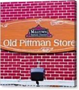 The Old Pittman Store Sign Canvas Print