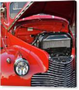 The Old Red Jalopy Canvas Print