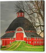 The Old Round Barn Of Ohio Canvas Print