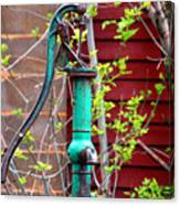 The Old Rusty Water Pump Canvas Print