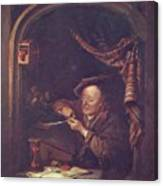 The Old Schoolmaster 1671 Canvas Print