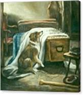 The Old Shepherd's Chief Mourner After Sir Edwin Landseer Canvas Print