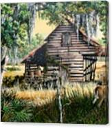 Old Floridaturpentine Barn-a Florida Memory Canvas Print