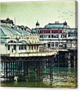 The Old Victorian West Pier Canvas Print