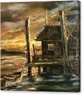 The Old Wharf Canvas Print