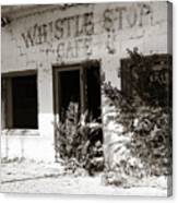 The Old Whistle Stop Cafe Canvas Print