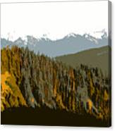 The Olympic Mountains Canvas Print
