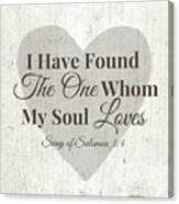 The One Whom My Sould Loves- Art By Linda Woods Canvas Print
