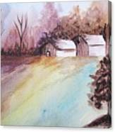 The Open Barn Door Canvas Print