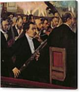 The Opera Orchestra Canvas Print