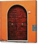 The Orange House Canvas Print