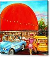 The Orange Julep Montreal Canvas Print