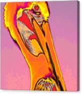 The Orange Pelican Canvas Print