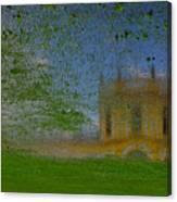 Fairytale Castle On A Meadow. Canvas Print
