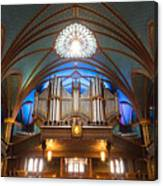 The Organ Inside The Notre Dame In Montreal Canvas Print